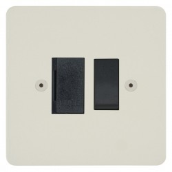 Focus SB Horizon HPW26.1B 13 amp switched fuse spur in Primed White with black inserts