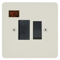 Focus SB Horizon HPW27.1B 13 amp switched fuse spur with neon in Primed White with black inserts