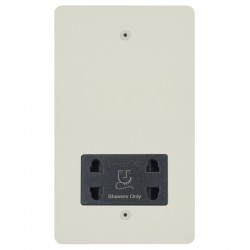 Focus SB Horizon HPW36.1B shaver socket (110/240V) in Primed White with black inserts