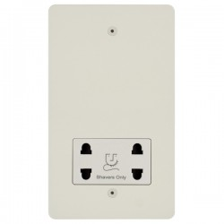 Focus SB Horizon HPW36.1W shaver socket (110/240V) in Primed White with white inserts