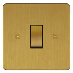 Focus SB Horizon HSB11.1 trimless 1 gang 20 amp 2 way rocker switch in Satin Brass
