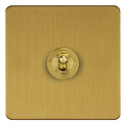 Focus SB Horizon HSB14.1 1 gang 20 amp 2 way toggle switch in Satin Brass