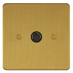 Focus SB Horizon HSB23.1 1 gang isolated co-axial TV socket in Satin Brass