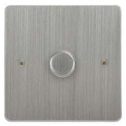 Focus SB Horizon HSC21.1 1 gang 2 way 250W (mains and low voltage) dimmer in Satin Chrome