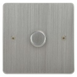 Focus SB Horizon HSC22.1 1 gang 2 way 400W (mains and low voltage) dimmer in Satin Chrome