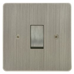 Focus SB Horizon HSN11.1 trimless 1 gang 20 amp 2 way rocker switch in Satin Nickel