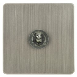 Focus SB Horizon HSN14.1 1 gang 20 amp 2 way toggle switch in Satin Nickel
