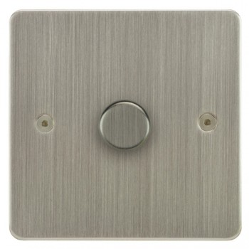 Focus SB Horizon HSN21.1 1 gang 2 way 250W (mains and low voltage) dimmer in Satin Nickel