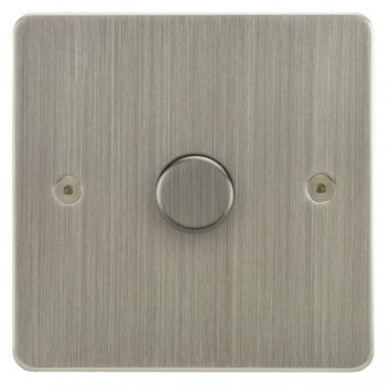 Focus SB Horizon HSN22.1 1 gang 2 way 400W (mains and low voltage) dimmer in Satin Nickel
