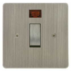 Focus SB Horizon HSN30.1 20 amp double pole rocker switch in Satin Nickel