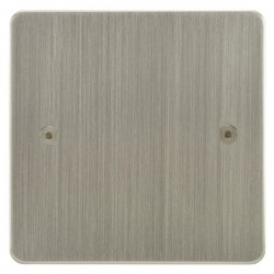 Focus SB Horizon HSN37.1 single blank plate in Satin Nickel