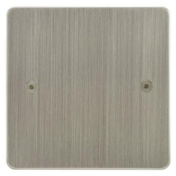 Focus SB Horizon HSN37.1 single blank plate in Satin Nickel