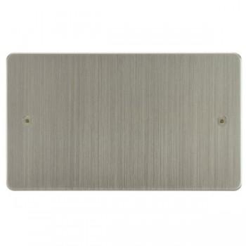 Focus SB Horizon HSN37.2 double blank plate in Satin Nickel