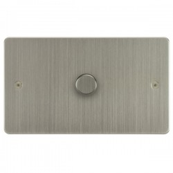 Focus SB Horizon HSN43.1 1 gang 700w low voltage, 1000w mains voltage dimmer in Satin Nickel