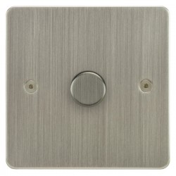 Focus SB Horizon HSN43.1/SML 1 gang 700W low voltage, 1000W mains voltage dimmer in Satin Nickel