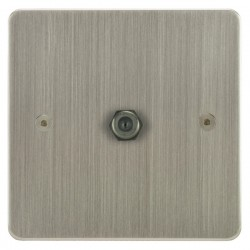 Focus SB Horizon HSN54.1 1 gang satellite socket in Satin Nickel