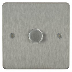 Focus SB Horizon HSS21.1 1 gang 2 way 250W (mains and low voltage) dimmer in Satin Stainless