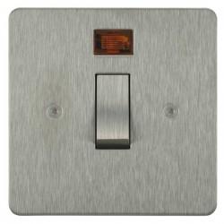 Focus SB Horizon HSS30.1 20 amp double pole rocker switch in Satin Stainless
