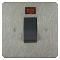 Focus SB Horizon HSS33.1B/SML 45 amp cooker control switch with neon in Satin Stainless