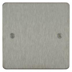 Focus SB Horizon HSS37.1 single blank plate in Satin Stainless