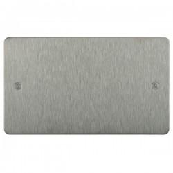 Focus SB Horizon HSS37.2 double blank plate in Satin Stainless