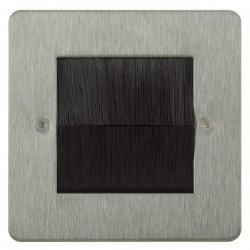 Focus SB Horizon HSSBRUSH.1 single plate with brush aperture in Satin Stainless