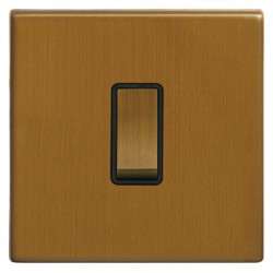 Focus SB Morpheus MBA11.1B 1 gang 20 amp 2 way rocker switch in Bronze Antique with black inserts