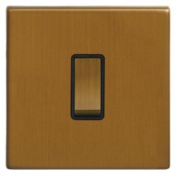 Focus SB Morpheus MBA11.1/3B 1 gang 20 amp Intermediate rocker switch in Bronze Antique