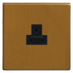 Focus SB Morpheus MBA19.1B 1 gang 2 amp unswitched socket in Bronze Antique with black inserts