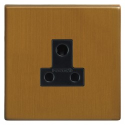 Focus SB Morpheus MBA20.1B 1 gang 5 amp unswitched socket in Bronze Antique with black inserts