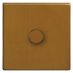 Focus SB Morpheus MBA21.1 1 gang 2 way 250W (mains and low voltage) dimmer in Bronze Antique