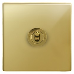 Focus SB Morpheus MPB14.1 1 gang 20 amp 2 way toggle switch in Polished Brass