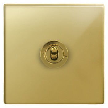 Focus SB Morpheus MPB14.1/3 1 gang 20 amp Intermediate toggle switch in Polished Brass