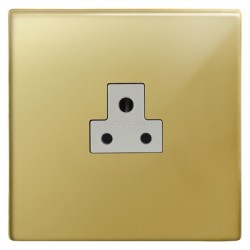 Focus SB Morpheus MPB19.1W 1 gang 2 amp unswitched socket in Polished Brass with white inserts