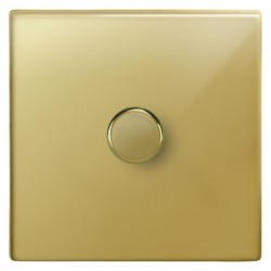 Focus SB Morpheus MPB21.1 1 gang 2 way 250W (mains and low voltage) dimmer in Polished Brass