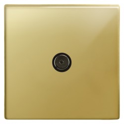 Focus SB Morpheus MPB23.1 1 gang isolated co-axial TV socket in Polished Brass