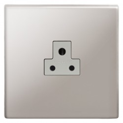 Focus SB Morpheus MPS19.1W 1 gang 2 amp unswitched socket in Polished Stainless with white inserts