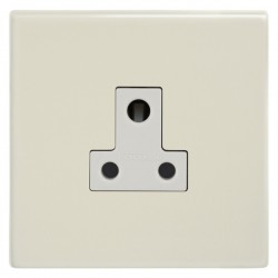 Focus SB Morpheus MPW20.1W 1 gang 5 amp unswitched socket in Primed White with white inserts