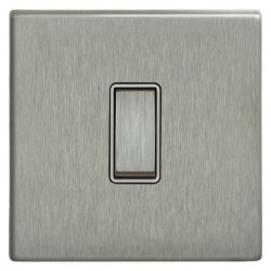 Focus SB Morpheus MSS11.1/3W 1 gang 20 amp Intermediate rocker switch in Satin Stainless with White Inserts
