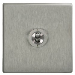 Focus SB Morpheus MSS14.1/3 1 gang 20 amp Intermediate toggle switch in Satin Stainless