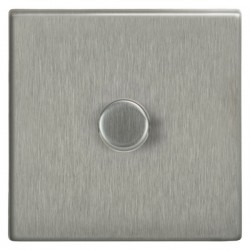 Focus SB Morpheus MSS21.1 1 gang 2 way 250W (mains and low voltage) dimmer in Satin Stainless