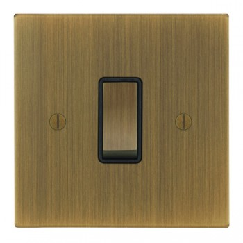 Focus SB Ambassador Square Corners NAAB11.1/3B 1 gang 20 amp Intermediate rocker switch in Antique Brass