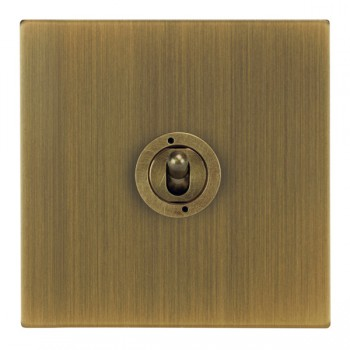 Focus SB Ambassador Square Corners NAAB14.1 1 gang 20 amp 2 way toggle switch in Antique Brass
