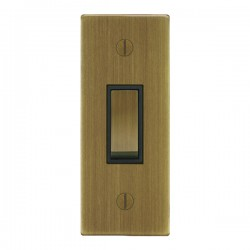 Focus SB Ambassador Square Corners NAAB16.1B 1 gang 20 amp 2 way architrave switch in Antique Brass with ...