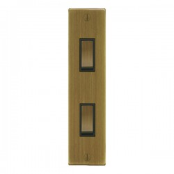 Focus SB Ambassador Square Corners NAAB16.2B 2 gang 20 amp 2 way architrave switch in Antique Brass with ...
