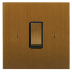 Focus SB Ambassador Square Corners NABA11.1B 1 gang 20 amp 2 way rocker switch in Bronze Antique with black inserts