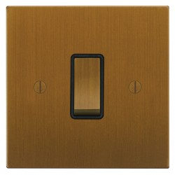 Focus SB Ambassador Square Corners NABA11.1/3B 1 gang 20 amp Intermediate rocker switch in Bronze Antique