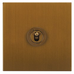 Focus SB Ambassador Square Corners NABA14.1 1 gang 20 amp 2 way toggle switch in Bronze Antique