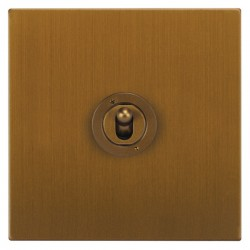 Focus SB Ambassador Square Corners NABA14.1/3 1 gang 20 amp Intermediate toggle switch in Bronze Antique