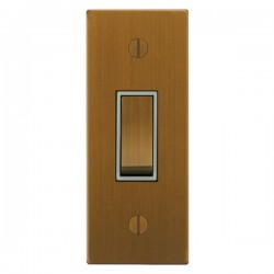 Focus SB Ambassador Square Corners NABA16.1W 1 gang 20 amp 2 way architrave switch in Bronze Antique with white inserts